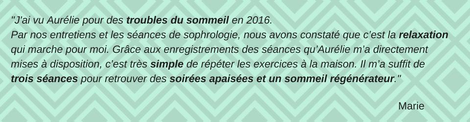 Aurélie Ingrand, sophrologue, relaxologue et thérapeute en relation d'aide